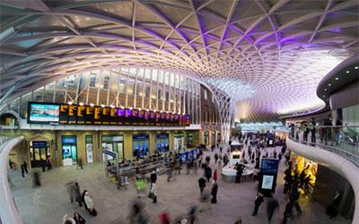 London rail terminal panorama